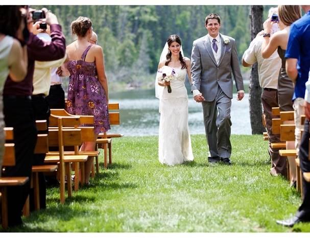lake wedding ceremony