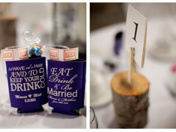 beer holder wedding favors