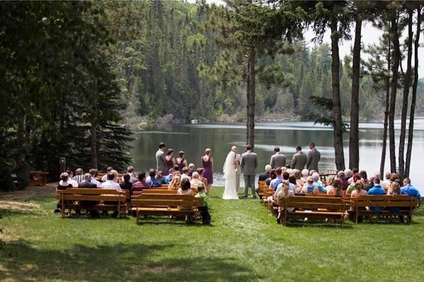 forest lake wedding