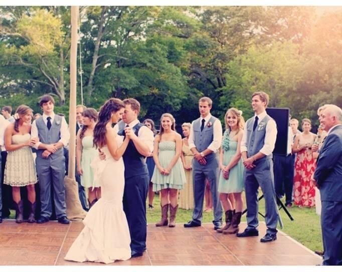 outdoor dance floor for weddings
