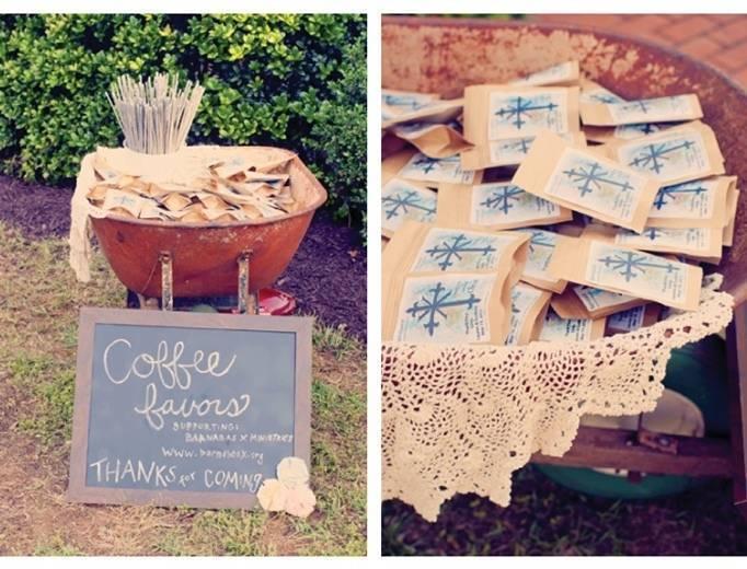 coffee bean wedding favors