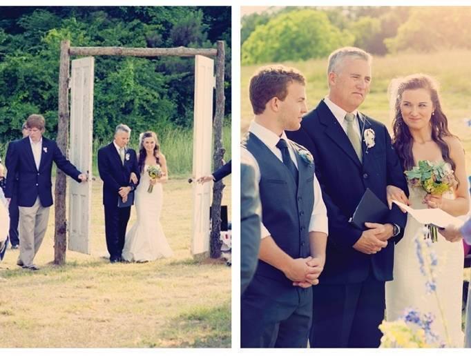 Large Outdoor Wedding Ceremony