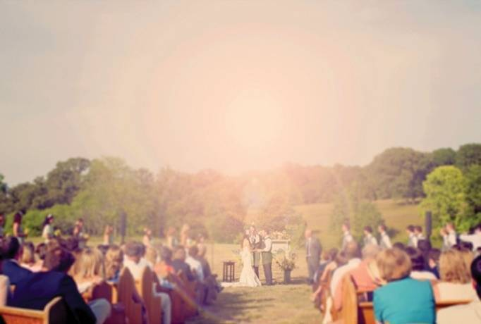 large outdoor wedding ceremony