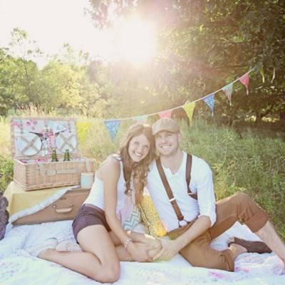 Country Picnic Engagement by Katy Hall Photography