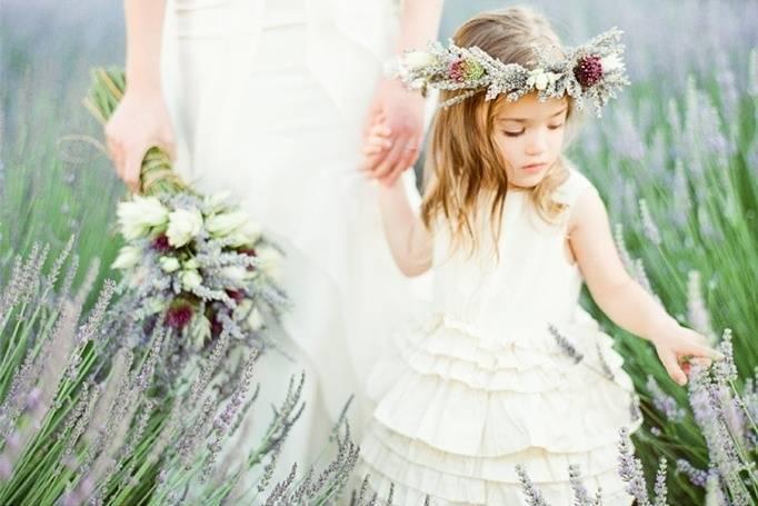 lavender flower girl crown