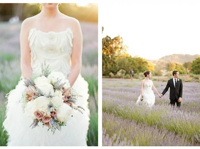 field of lavender wedding theme