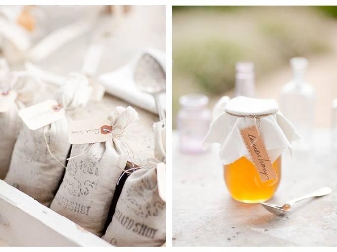 lavender honey wedding favors