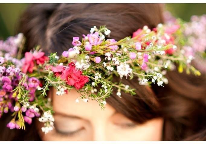 flower hair wreath