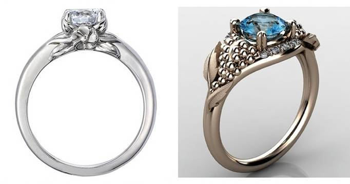 10 beautiful nature inspired engagement rings - Nature Inspired Wedding Rings