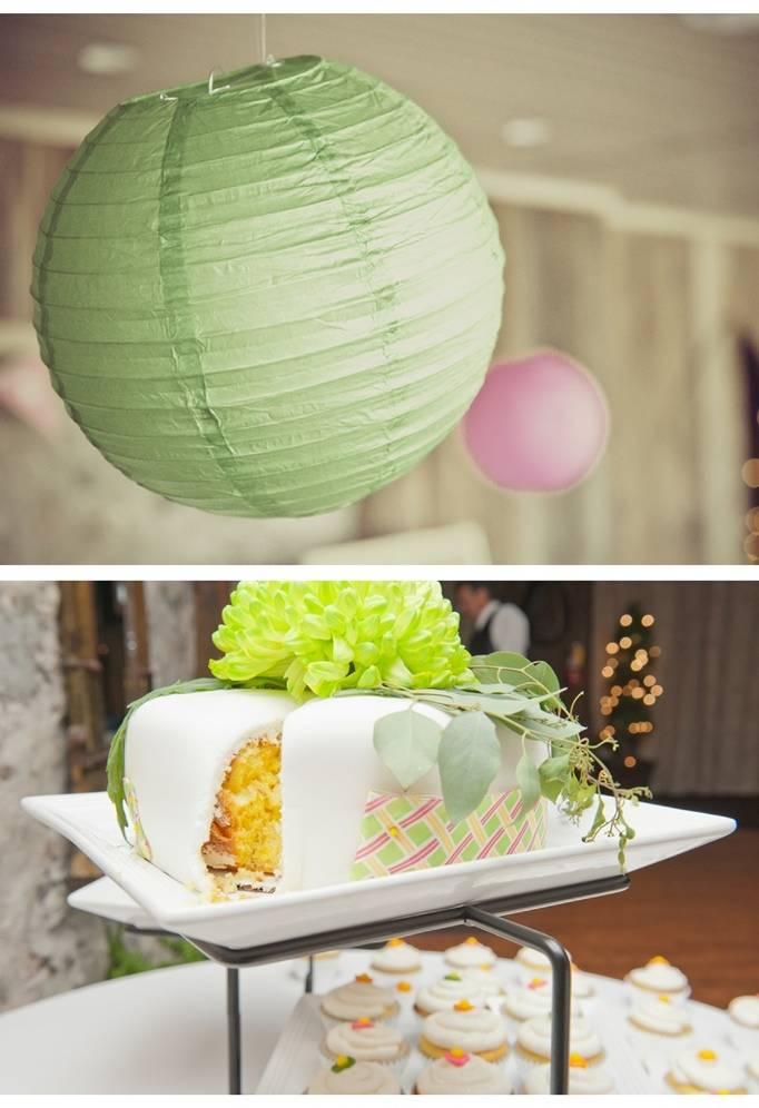 pink green yellow wedding