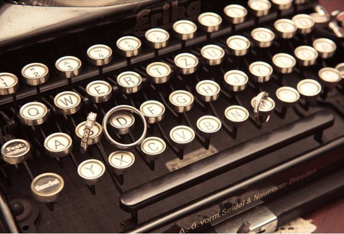wedding typewriter