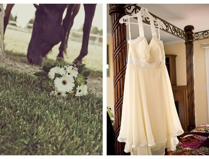 light yellow bridesmaid dress