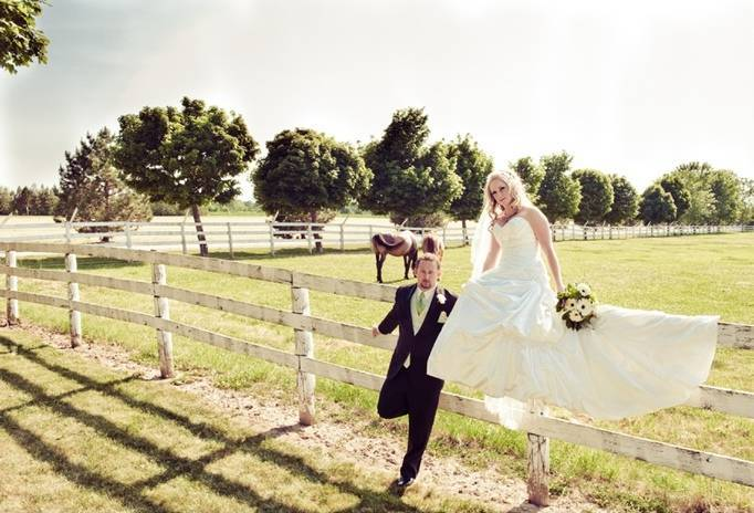 wedding with horses