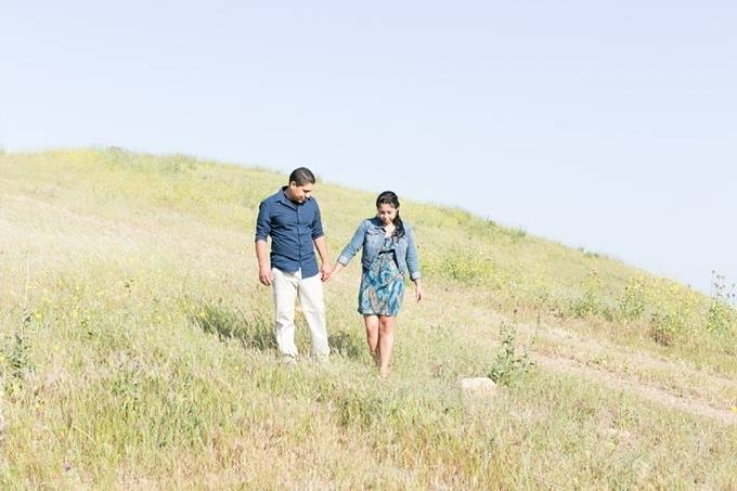 Sunny California Field Engagement by Maritha Mae Photography