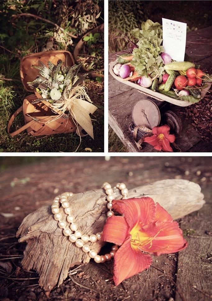 organic garden wedding