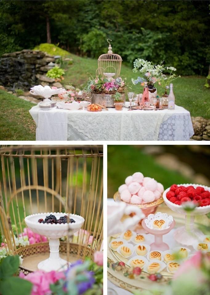 raspberry blackberry wedding
