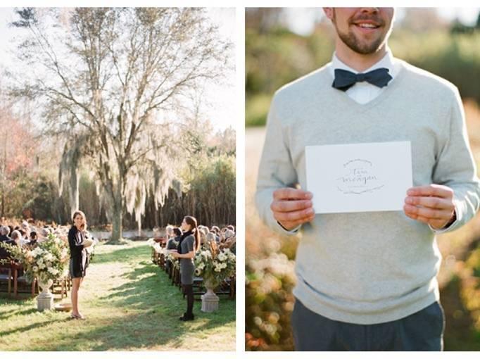 Magnolia Plantation wedding ceremony