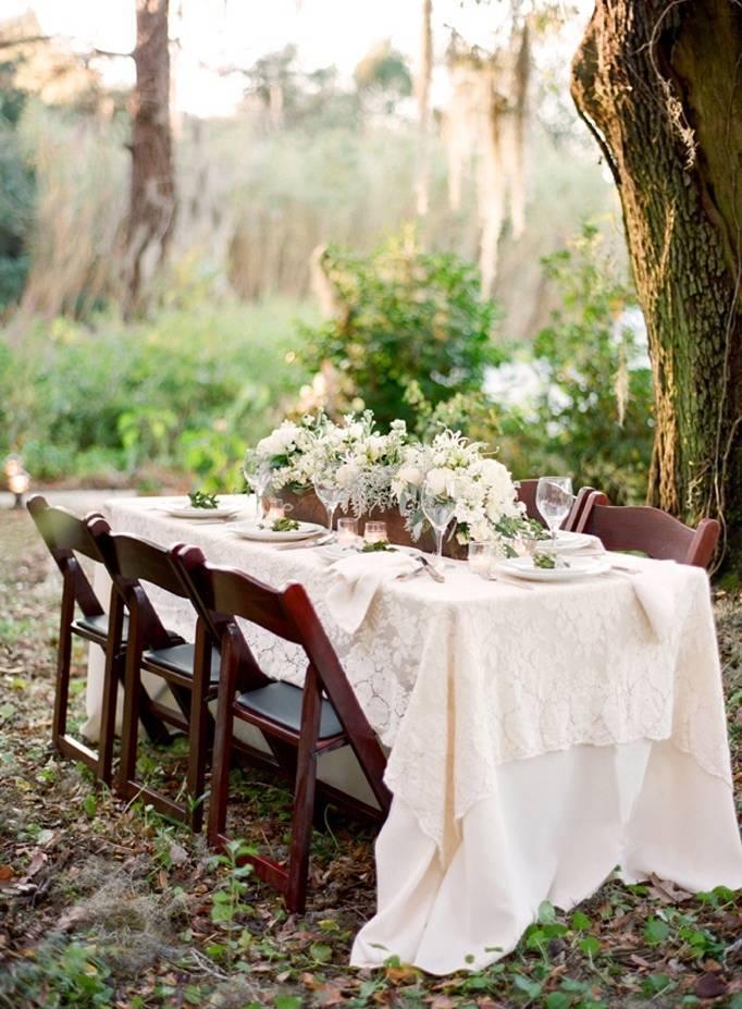 woodland wedding tablescape