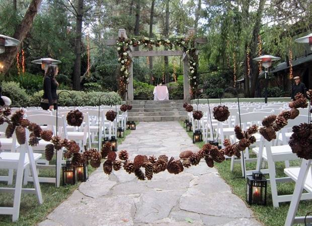 pinecone wedding ideas