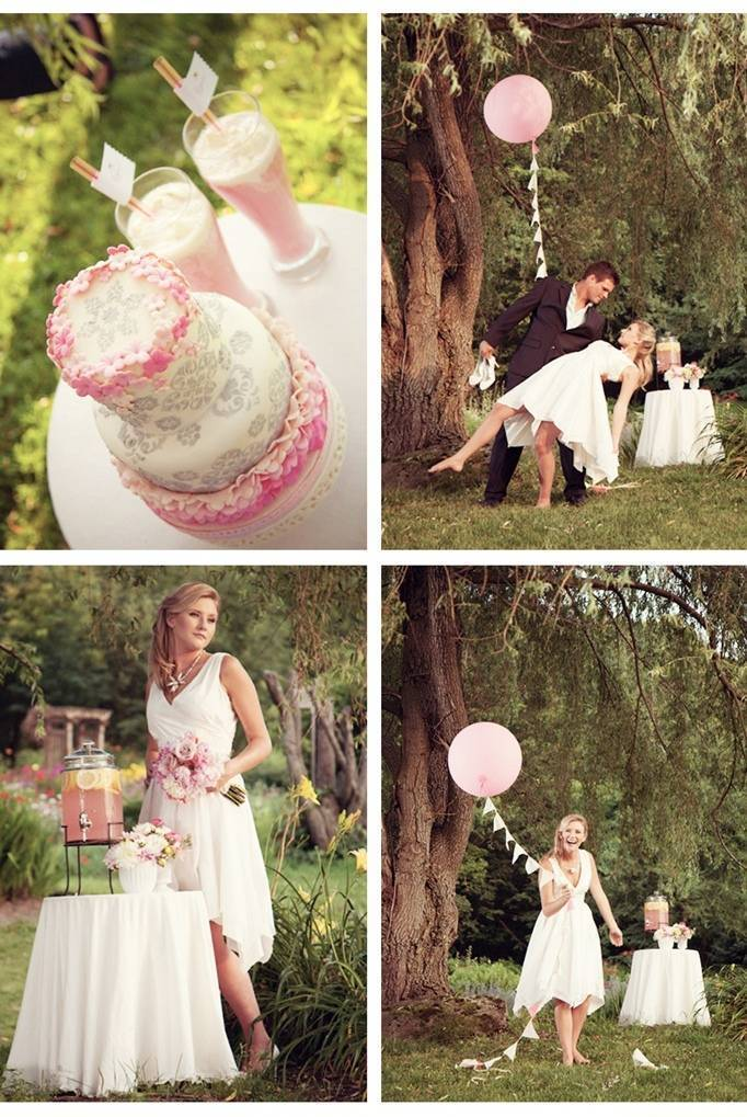 pink lemonade stand wedding
