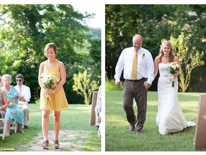 golden bridesmaid dress