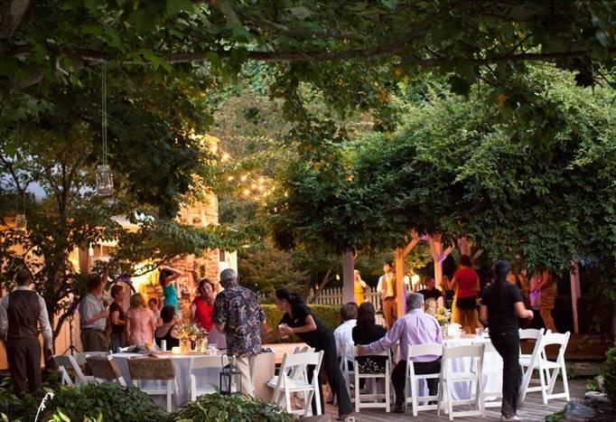 outdoor Arkansas wedding