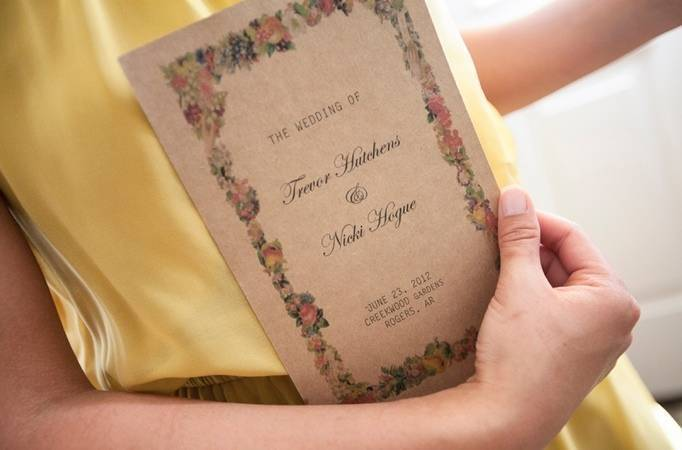 rustic flower invitations