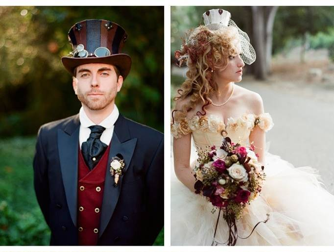Steampunk Bride and Groom