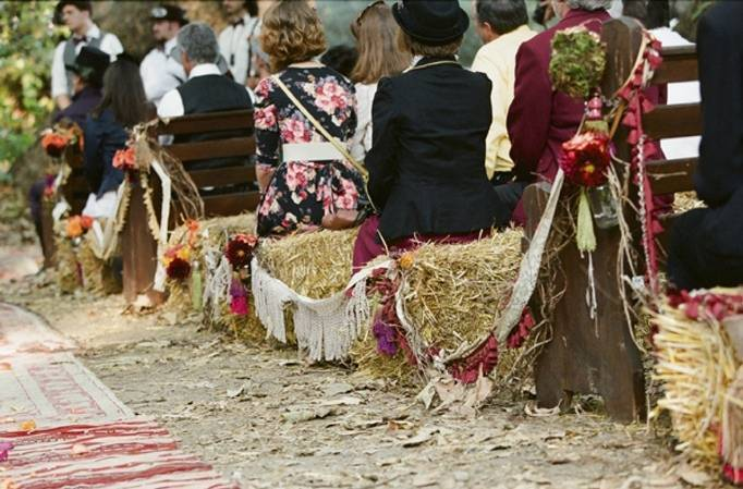 outdoor fall wedding