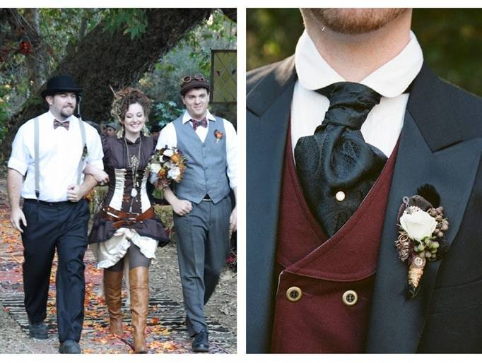 steampunk wedding outift