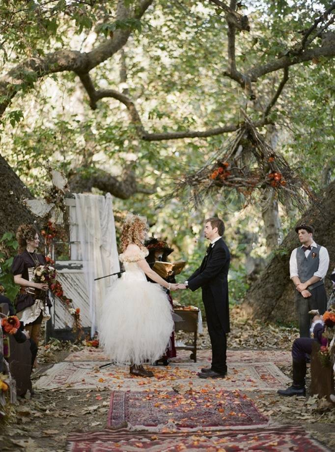 woodland faerie wedding ceremony