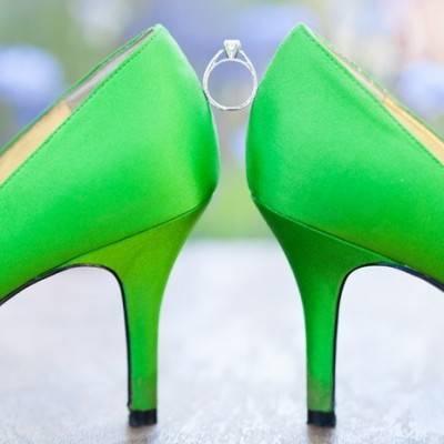 Yellow and Green Backyard Wedding by Travis Lawton Photography