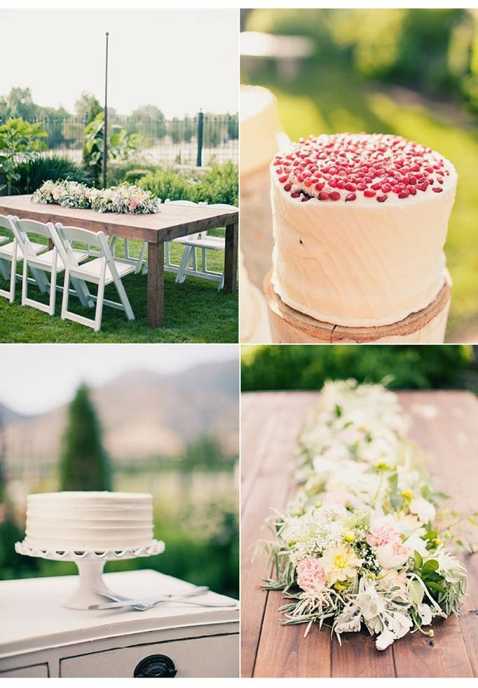 pomegranate wedding cake