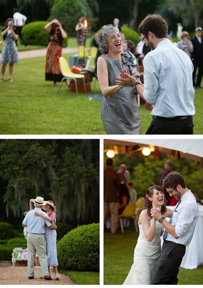 dance area for outdoor wedding