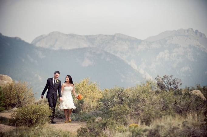 Rustic Orange Mountain Wedding by Ashley Davis Photography