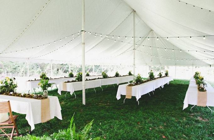 tented woodland wedding