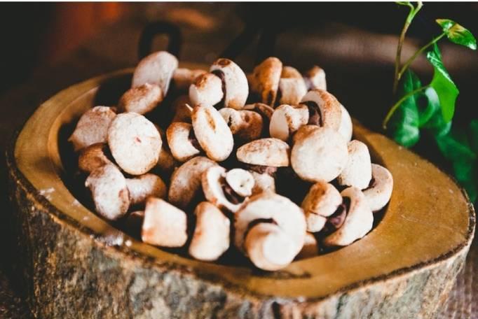 mushroom cap dessert