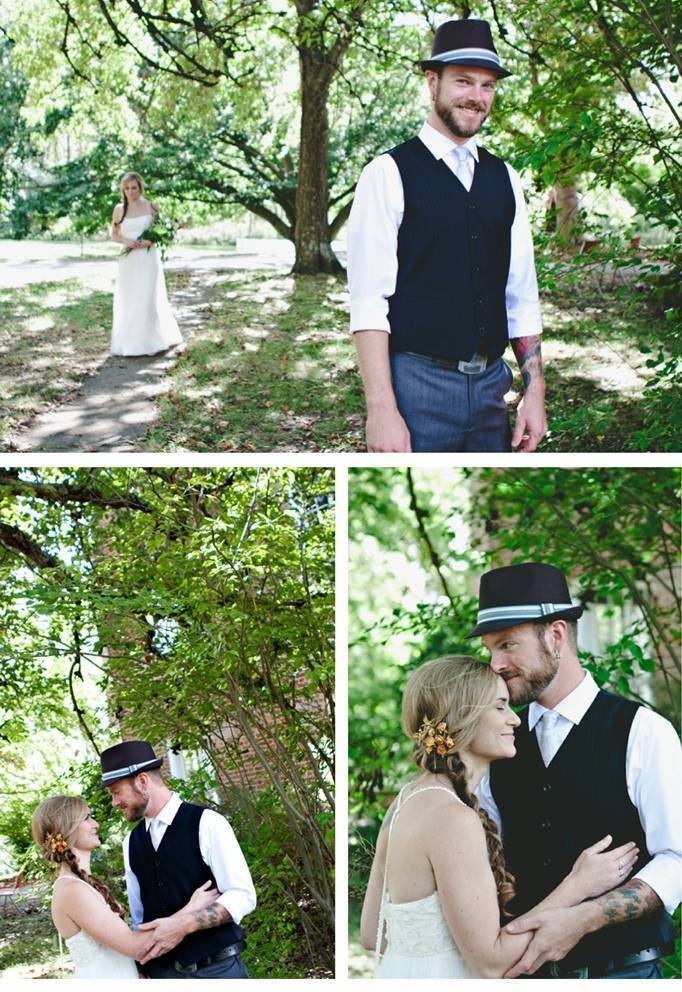 first look wedding pictures
