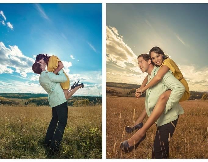 field engagement photo shoot