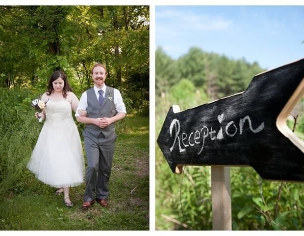 rustic wedding reception sign