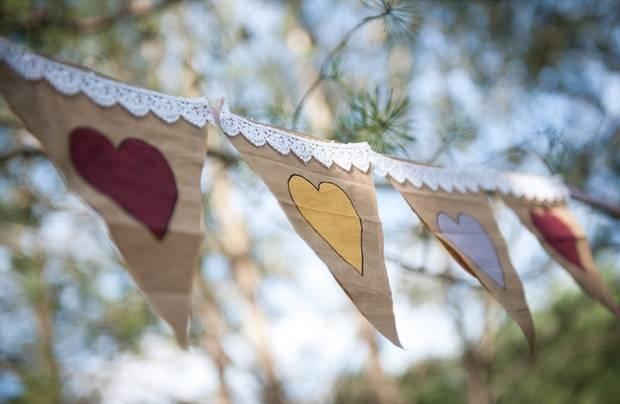 rustic burlap wedding banner