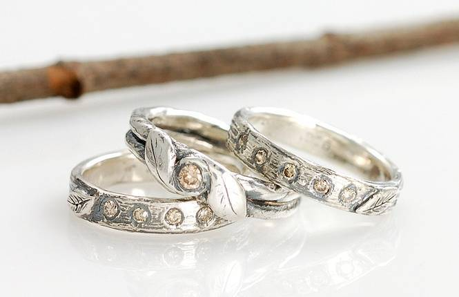 Nature Inspired Wedding Rings by Beth Cyr Jewelry