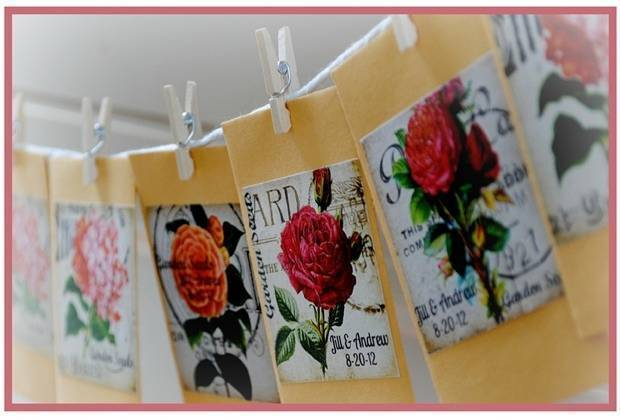 wildflower seed packet wedding favors