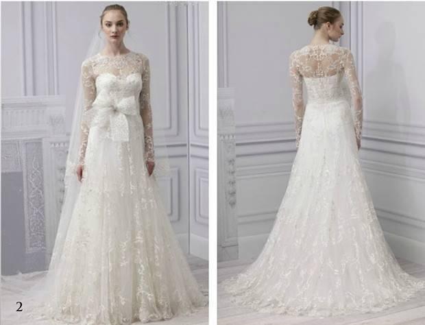 Monique Lhuillier longsleeve wedding dress