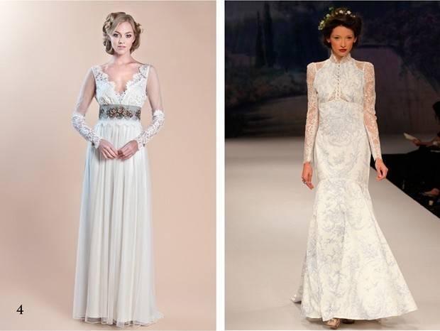 Claire Pettibone long sleeve wedding dress