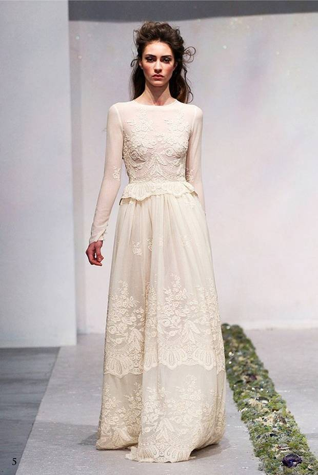 Luisa Beccaria long sleeve wedding dress