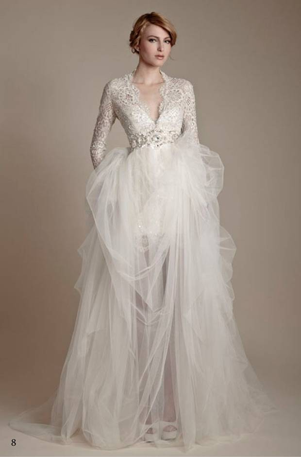 Ersa Atelier long sleeve wedding gown