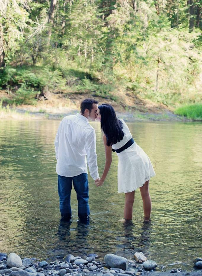 Into the Woods: Engagement by Smiling Rain Photography