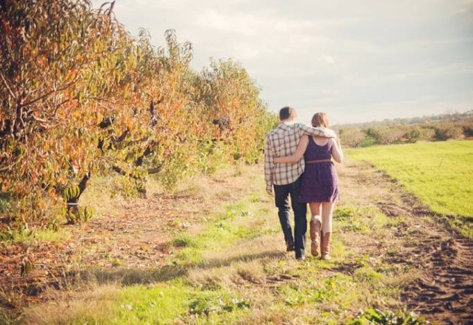Fall Orchard Picnic Engagement from Audra Wrisley Photography