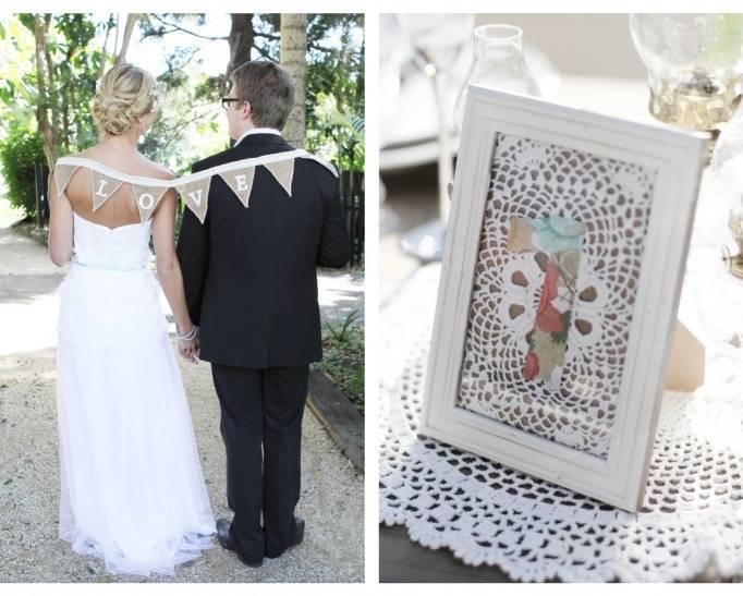 burlap wedding banners